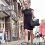 Upskirtcollection.com – Tight black dress worn by long..  2013 Tight Skirt